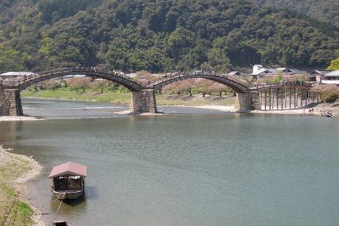 クリックすると錦帯橋の拡大写真を表示